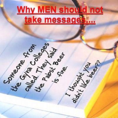 Men and taking messages
